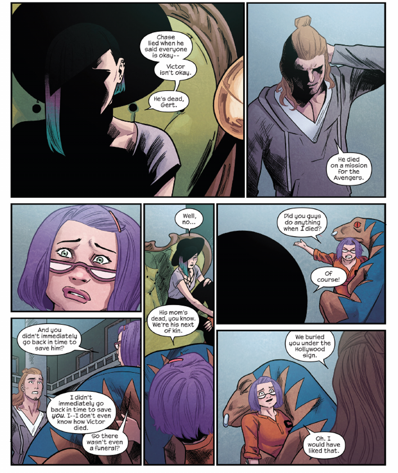This Week's Issue Of Runaways Makes Marvel Comics' Entire