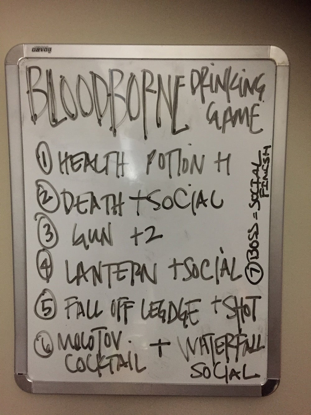 I Have Created A Bloodborne Drinking Game