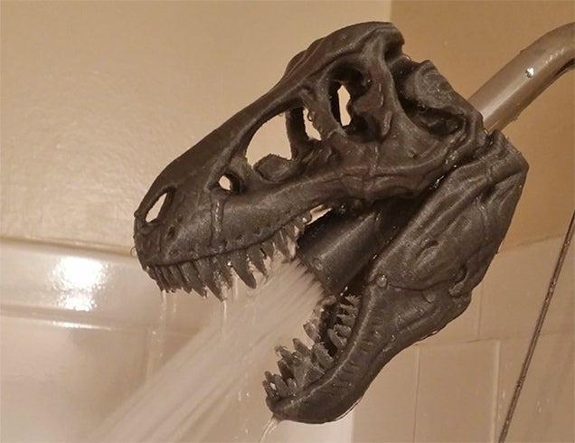 T-Rex Skull Shower Heads Justify the Existence of 3D Printers