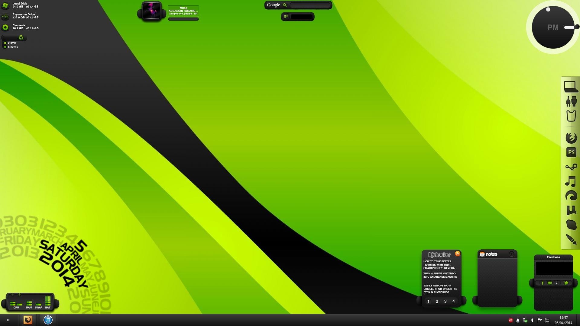The Green Bubble Windows Desktop