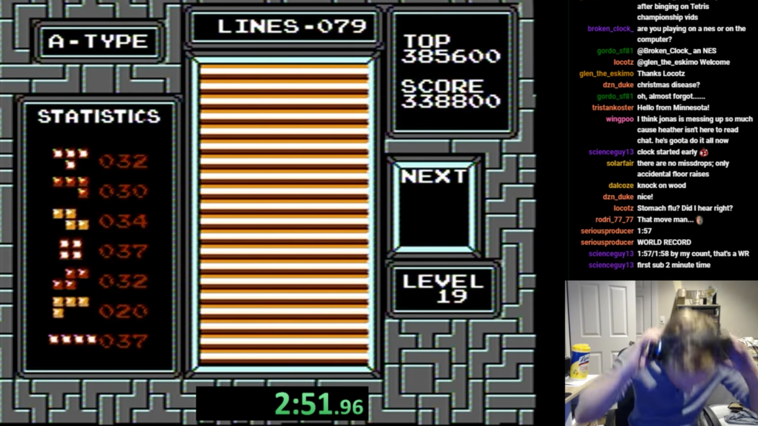 Guy Accidentally Sets A New Tetris Record