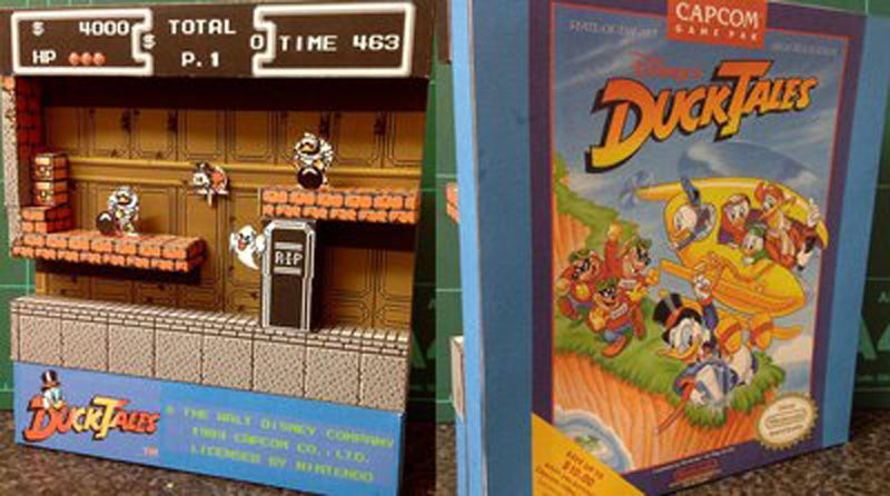 Fan Makes Cool Paper Versions of Classic Game Scenes