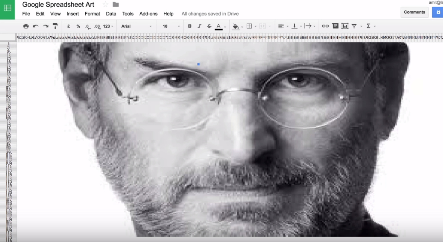 Make Impressive Pixel Art With Just A Google Spreadsheet
