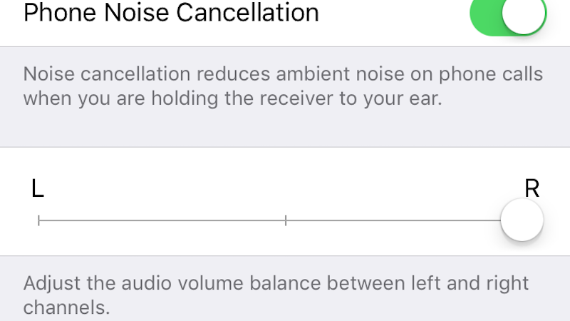 Adjust Audio Balance In iOS Under The Accessibility Options