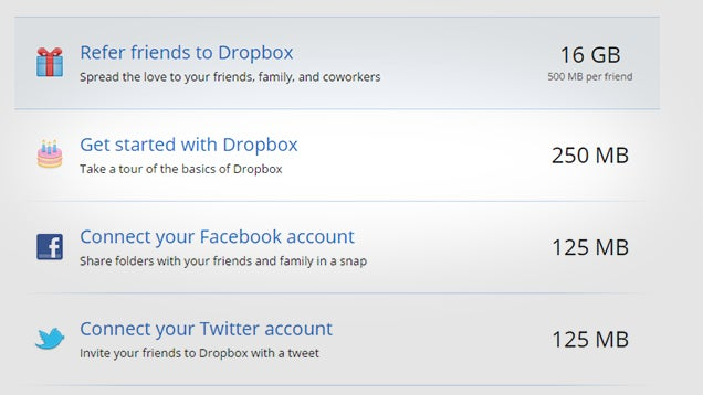 Dropbox How To Maximise Your Free Storage E On Every Cloud Service