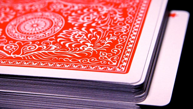 Clean Sticky Playing Cards With Cornflour