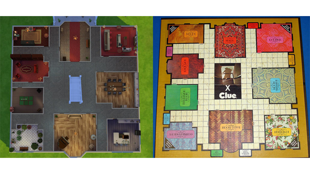 The Clue Mansion, Completely Remade in The Sims 4