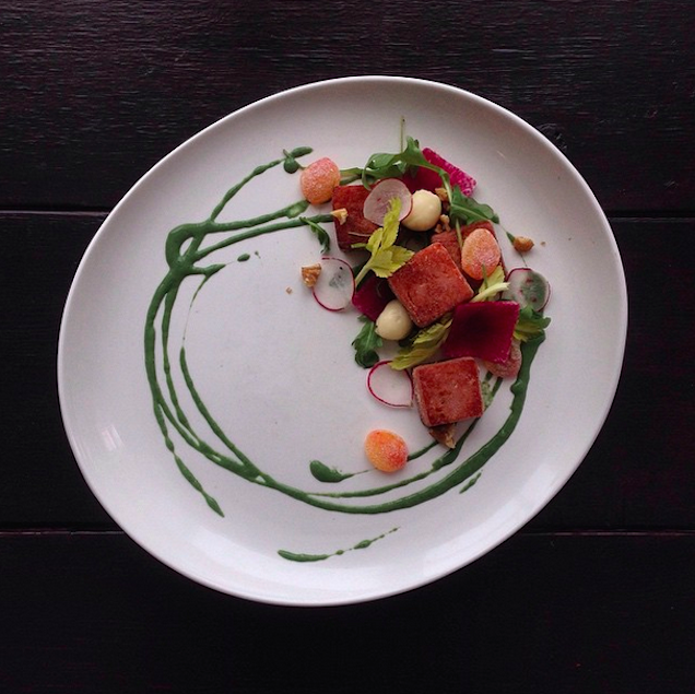 These perfectly plated fine dining dishes are actually made of junk food