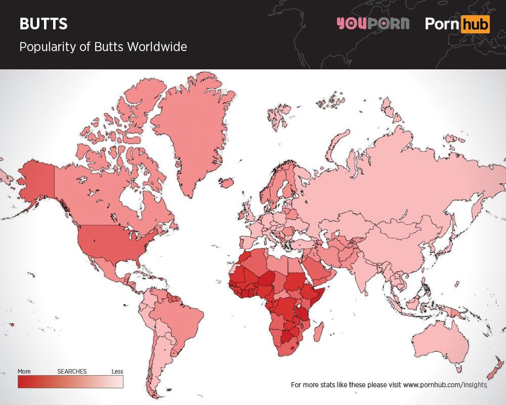 Maps Show Which Body Parts In Porn Are The Most Popular Across The World  Gizmodo -7239
