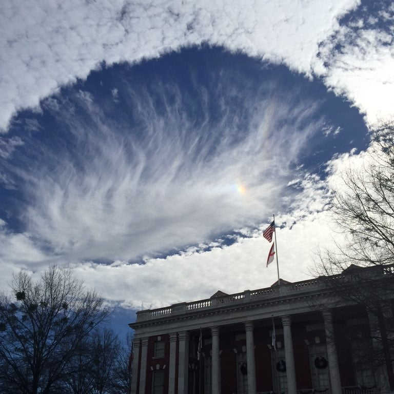 Fallstreak Clouds Poke Decorative Holes Over the Southern Skies