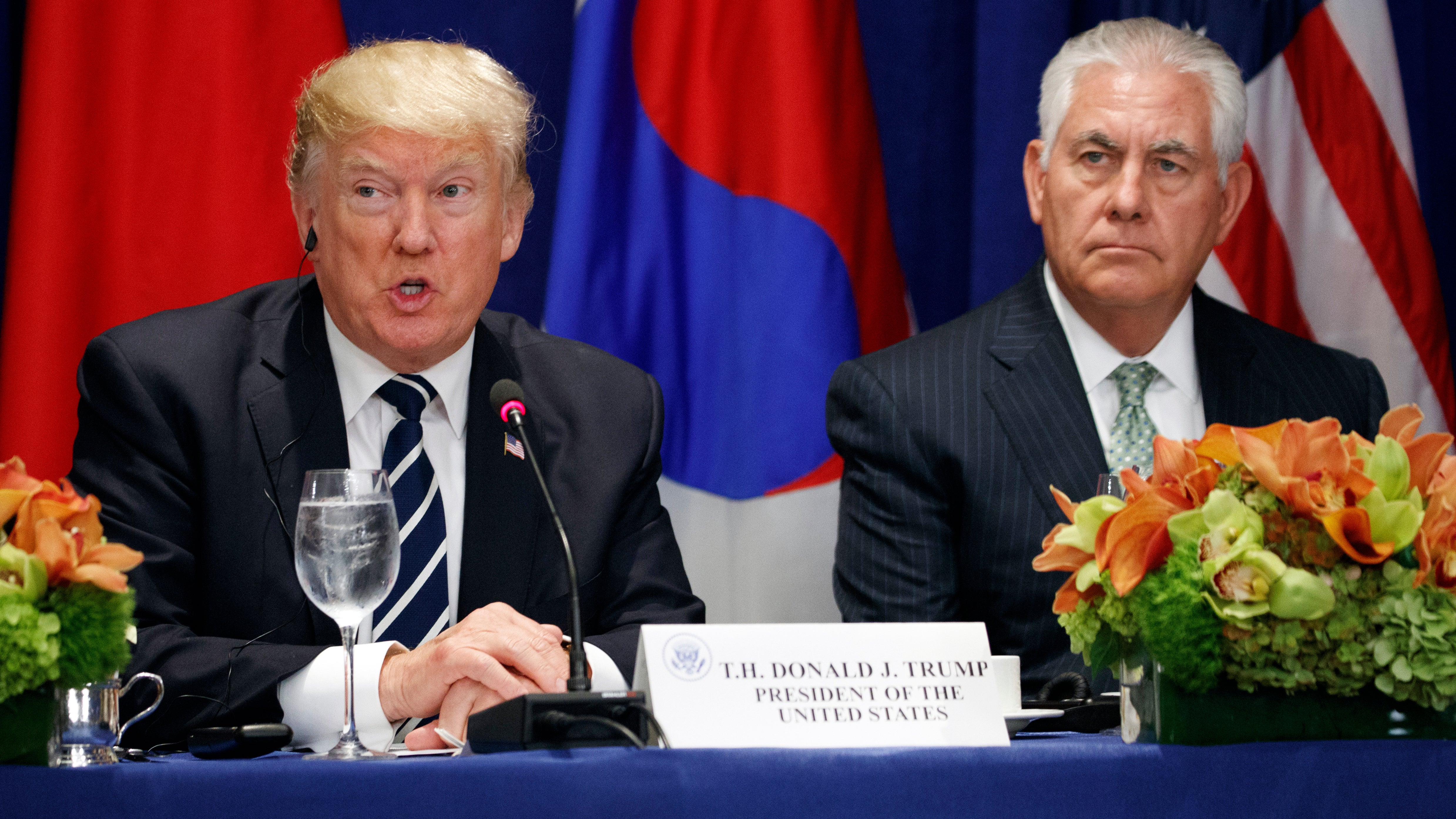 Trump says Tillerson