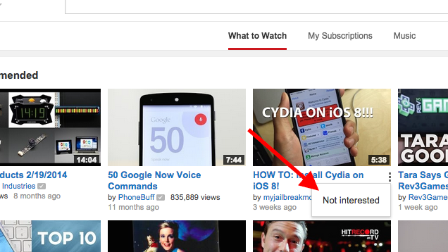 Remove YouTube Channels and Clean Up the History for Better Suggestions