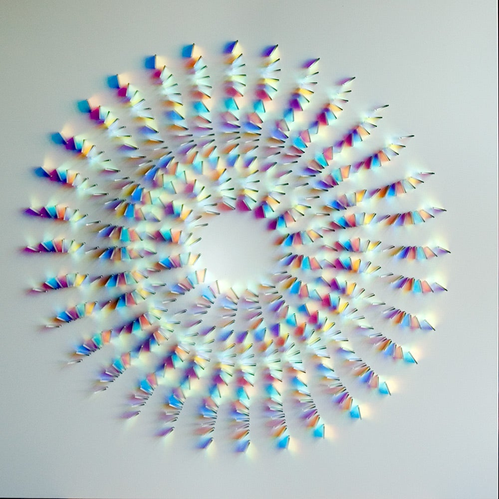 Beautiful glass sculptures transform light into beautiful colour shapes