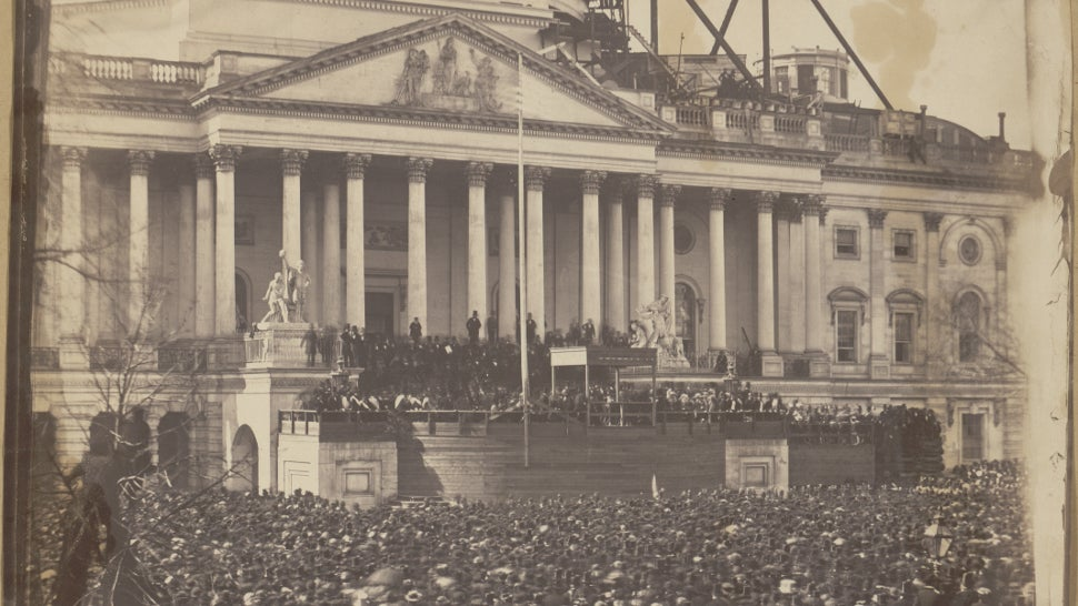 Exceptionally Rare Photograph Of Lincoln's First Inauguration Will Go On Display Today