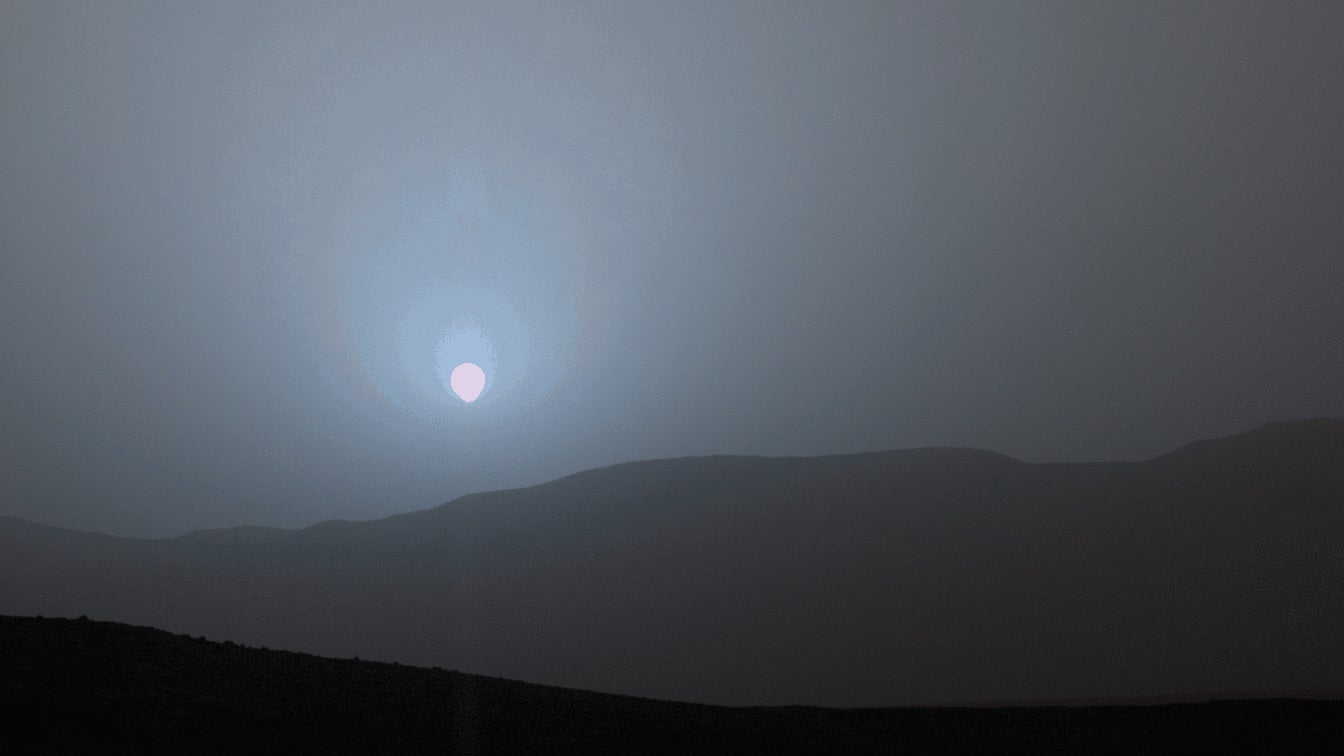 Watch The Sun Go Down On Mars