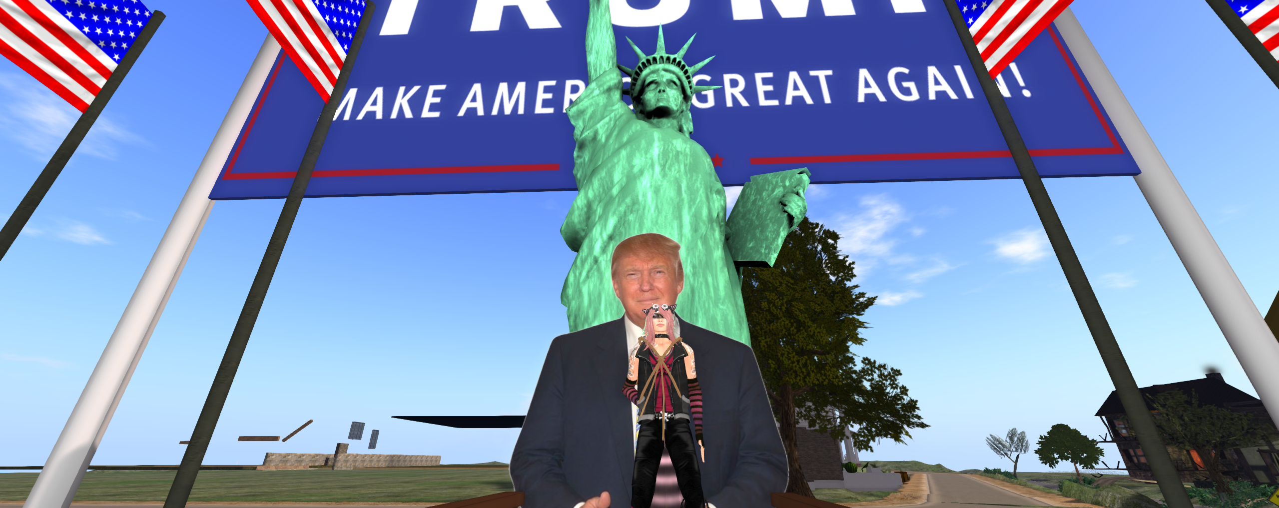 And Then I Got Banned From Donald Trump's Second Life Mansion