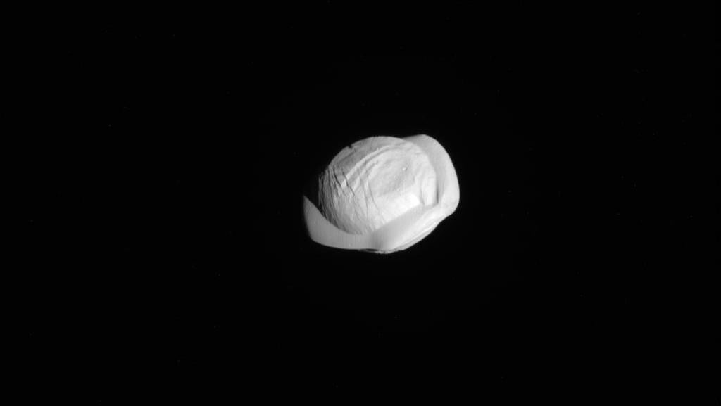 New Up-Close Images Of Saturn's Tiny Moon Prove It's A Dumpling