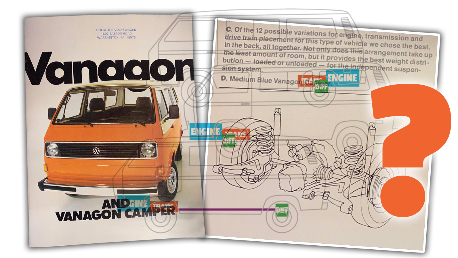 This Old VW Vanagon Brochure Contains An Interesting And Unintentional Hidden Brain Teaser