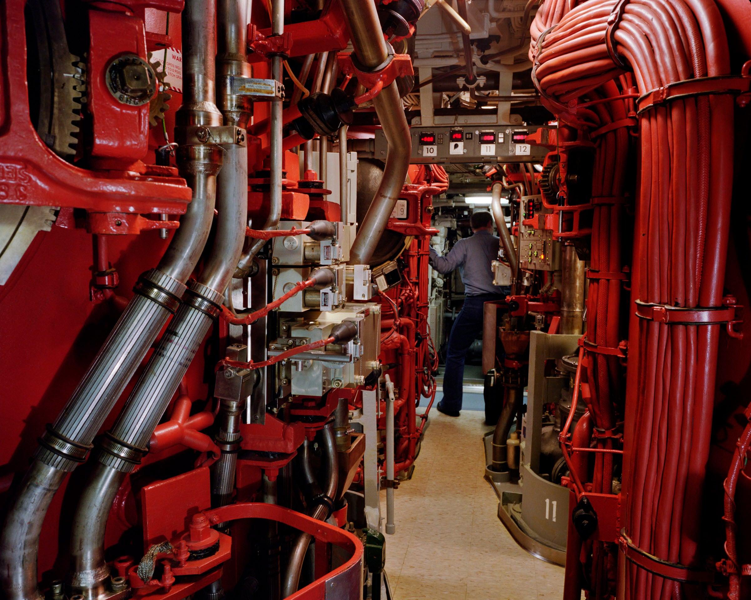 Photo: Paul Shambroom, Untitled (Trident submarine missile tubes, second level, USS Alaska, Naval Submarine Base Bangor, Washington. ), (#3515/16) 1992, Colour coupler print, 16X20 inches, Photo courtesy of Paul Shambroom.