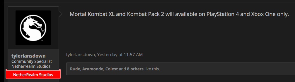 Mortal Kombat X's PC Players Are Getting the Shaft