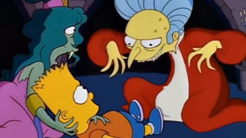 Bart Simpson's Dracula Is The Best Treehouse Of Horror Sketch, It Just Is