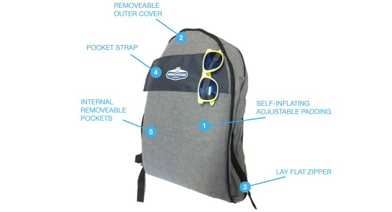Everywhere's a Bed With a Self-Inflating Backpack Pillow