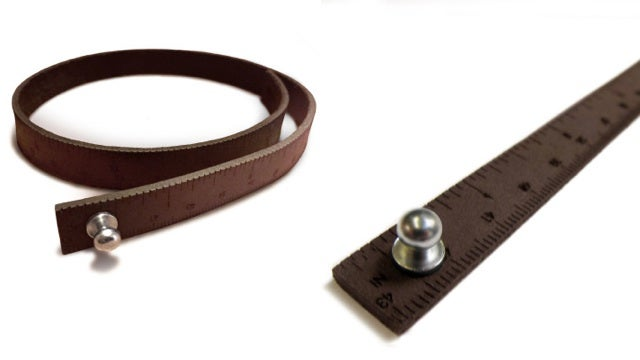 This Handsome Bracelet Unrolls Into a Ruler