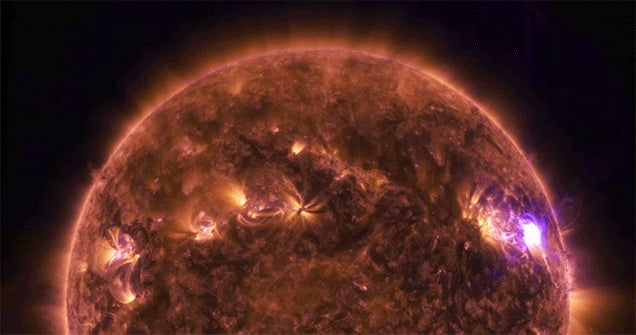 An Electric Look at a Solar Flare on the Sun