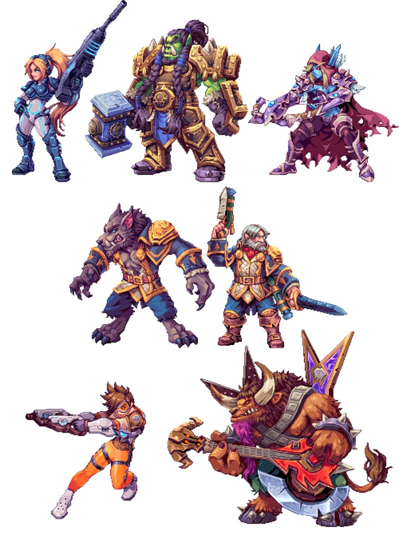 blizzard characters make awesome 2d sprites  blizzard characters make awesome 2d sprites
