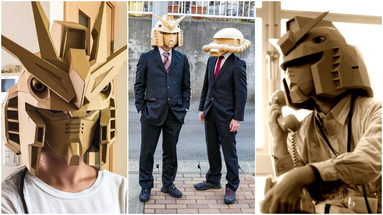 And Now, Some Excellent Cardboard Gundam Heads