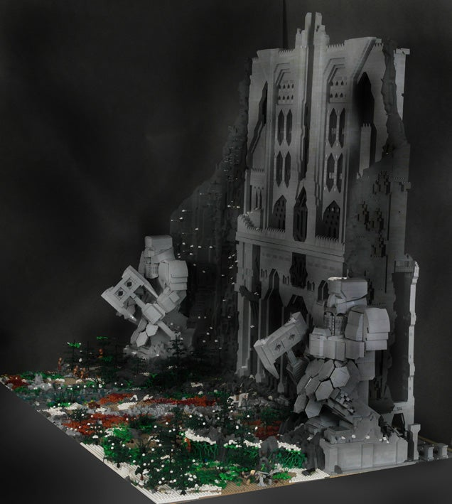 The Gates of Lonely Mountain Made From 55,000 LEGO Pieces
