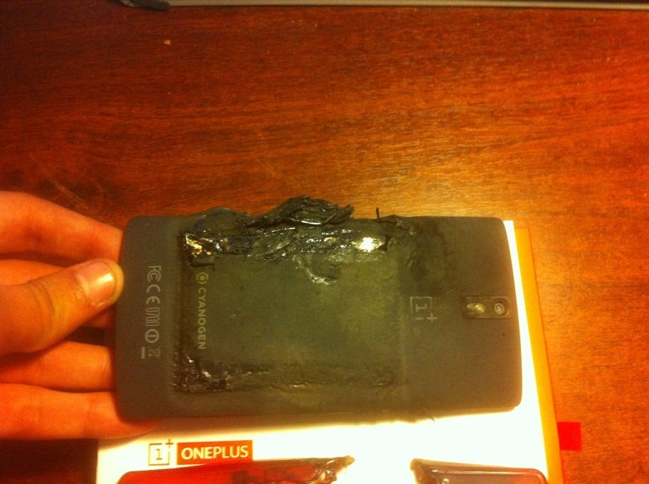A OnePlus One Just Blew Up In Its Owner's Rear Pocket