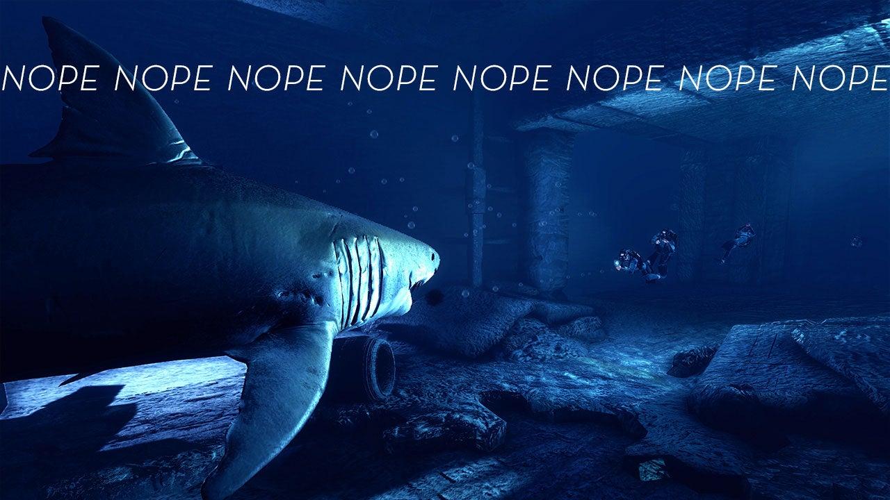 Nope Nope Nope NOPE NOPE NOPE (Or, F**k Sharks)