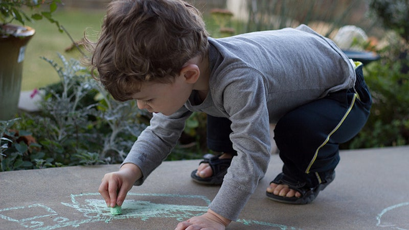 Turn An Old Jumper Into Pants For Your Toddler