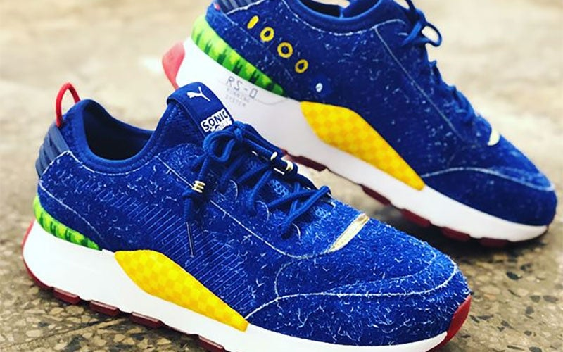 Puma's New Sonic The Hedgehog Sneakers Are Very Hairy