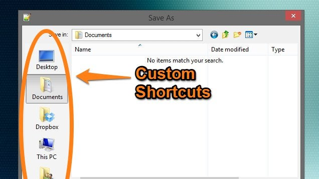 How To Add Your Own Shortcuts To Windows' Save Dialog