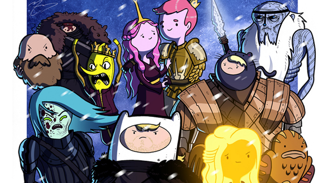 Adventure Time Goes Really Well With Game of Thrones