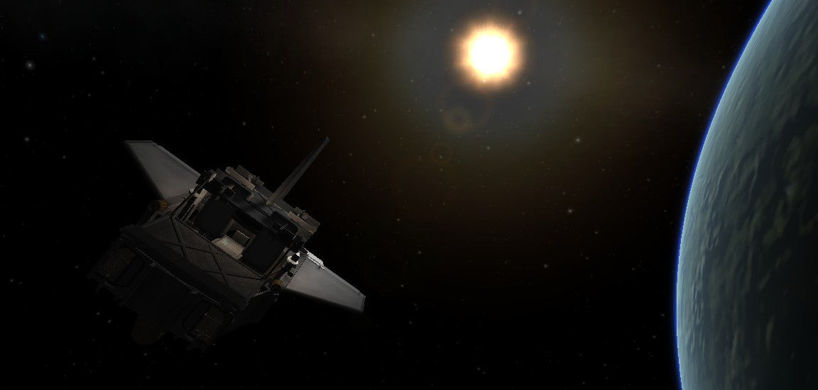 One Kerbal Player Launched The Silliest Car in History Into Space