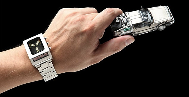 You Can Never Really Be Late With a Flux Capacitor Watch