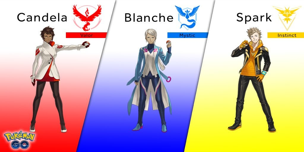Meet Your Pokémon Go Team Leaders