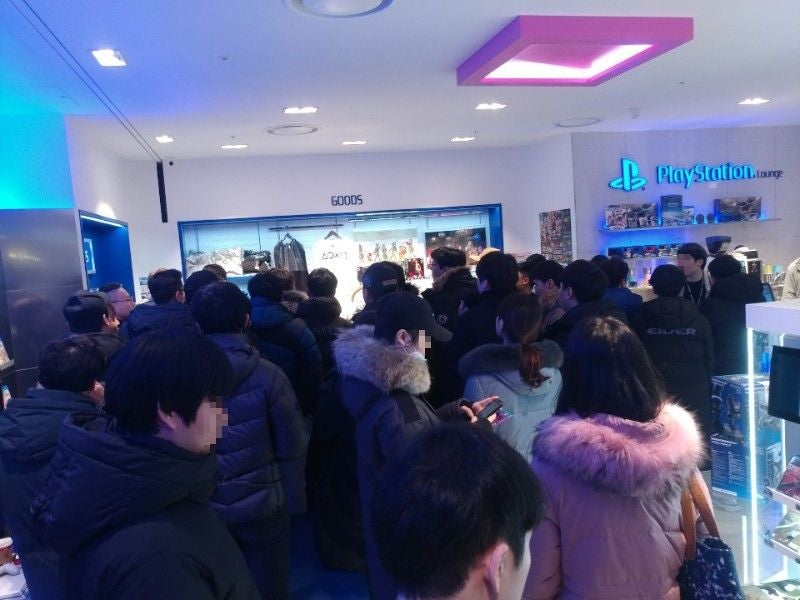 Massive Lines In South Korea For The PlayStation 4