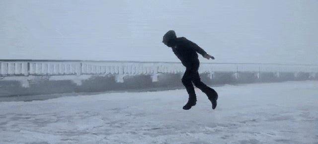 What It's Like to Walk Against 161km/h Winds