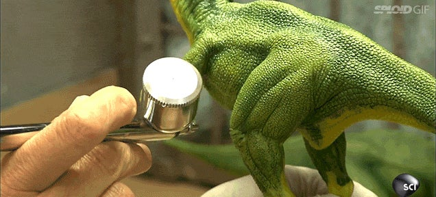 How a little toy dinosaur is made