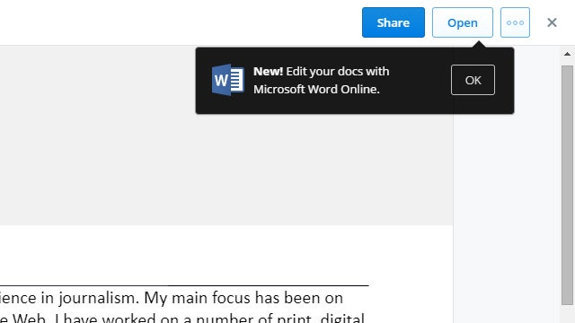 Edit Office Documents From Inside the Dropbox Website