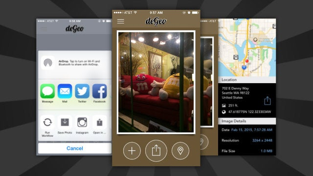 DeGeo Updates with iOS 8 Support to Quickly Strip Location from Photos