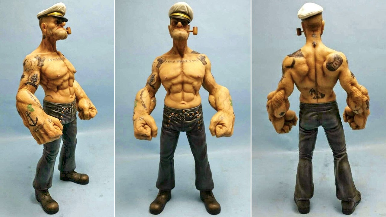 The Lifelike Sculpt On this Popeye Figure Is Terrifying
