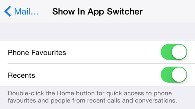 Put Your Favourite Contacts on the iOS Multitasking Screen