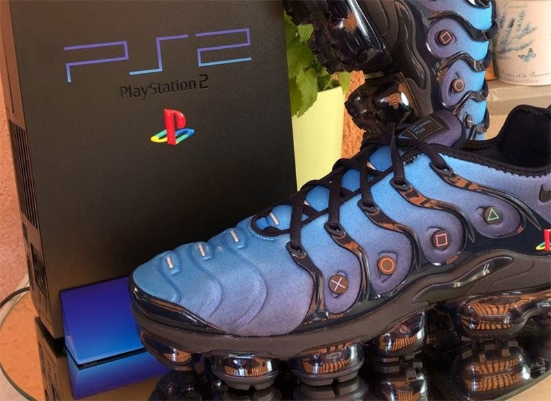 01a99ce8ff2 These PlayStation sneakers aren t official—I doubt either Nike or Sony  would go with something so obvious—but the results are still pretty cool.