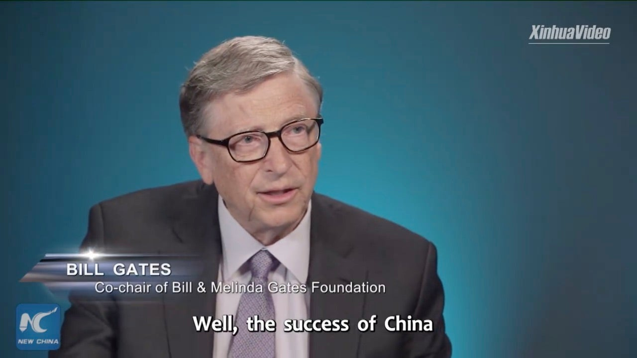 Chinese State Media Runs Facebook Ad With Bill Gates Talking About How Great China Is Doing