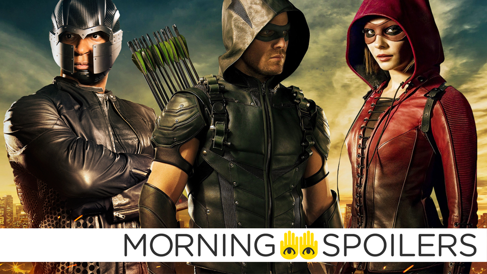 Set Pictures Reveal Our First Look At The New Team Arrow